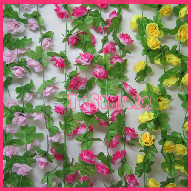 6.8 ft artificial Peones flower vines for home decoration