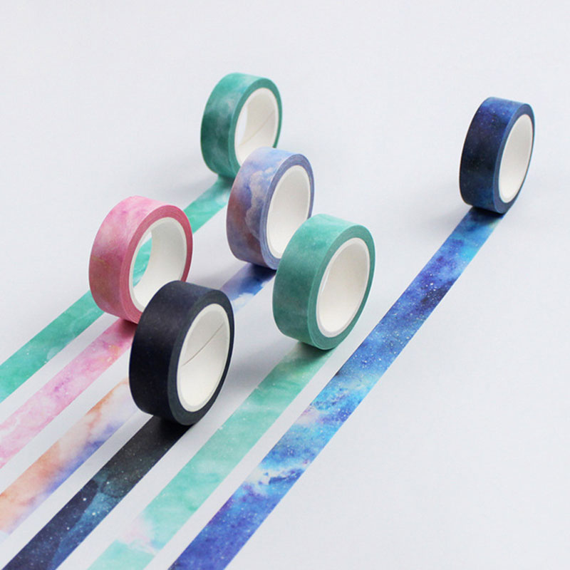 1.5cm*8m dream color washi tape DIY decoration scrapbooking planner masking tape adhesive tape label sticker stationery