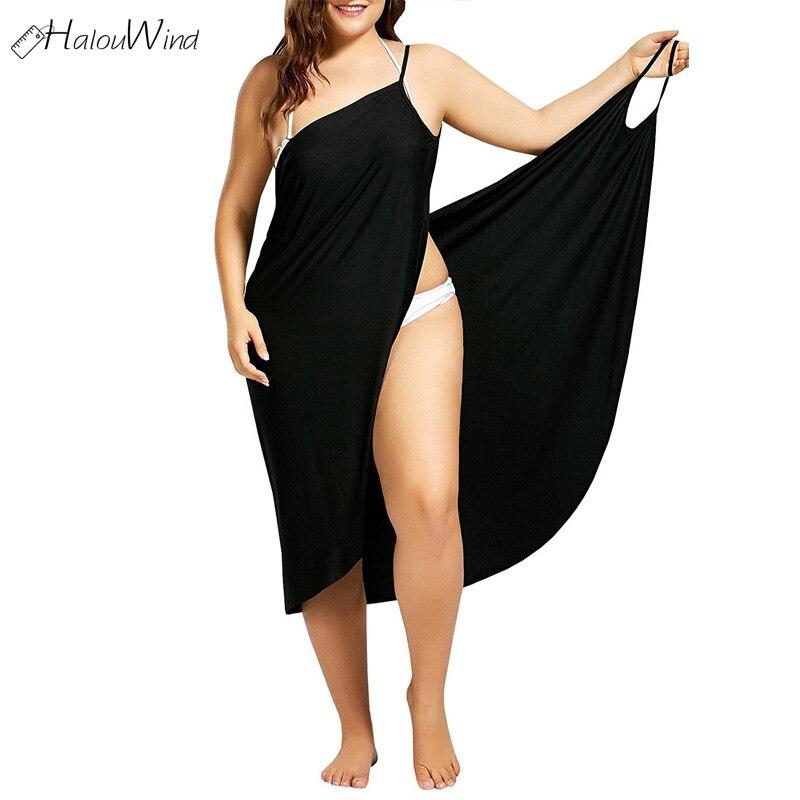 b3b4b74a8582 2019 Butterfly Shape Wrap Slip Beach Dress Tunic Saida De Praia Boho Summer  Wear Women Tunics