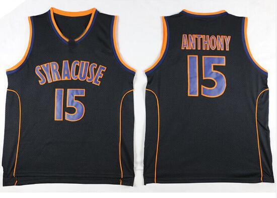 VIVA VILLA Carmelo Anthony Jersey 15 Syracuse University College Basketball Jersey Stitched Men Basketball Jersey Free Shipping ...