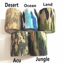 Army Marine Camouflage Tape Camouflage Tape Self-adhesive Elastic Bandage Elastic Camouflage Tape Sports Protection Bandage camouflage