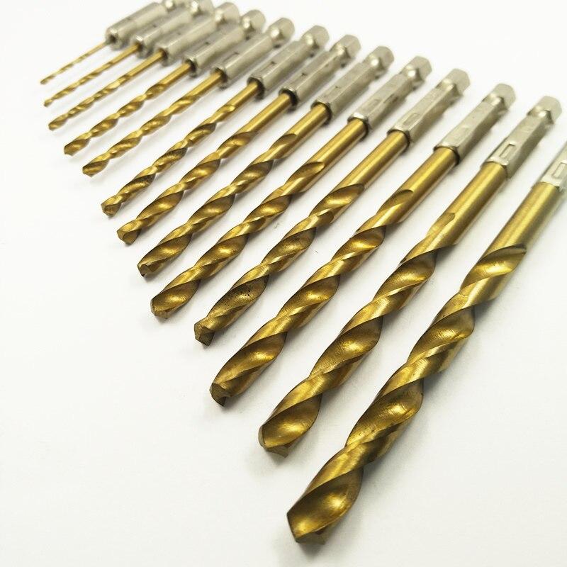 DEKS 13 Stücke 1,5 ~ 6,5mm Bohrmaschine werkzeuge und Säge Set HSS Stahl Titan Beschichtet Holzbearbeitung Holz Twist bohrer werkzeug