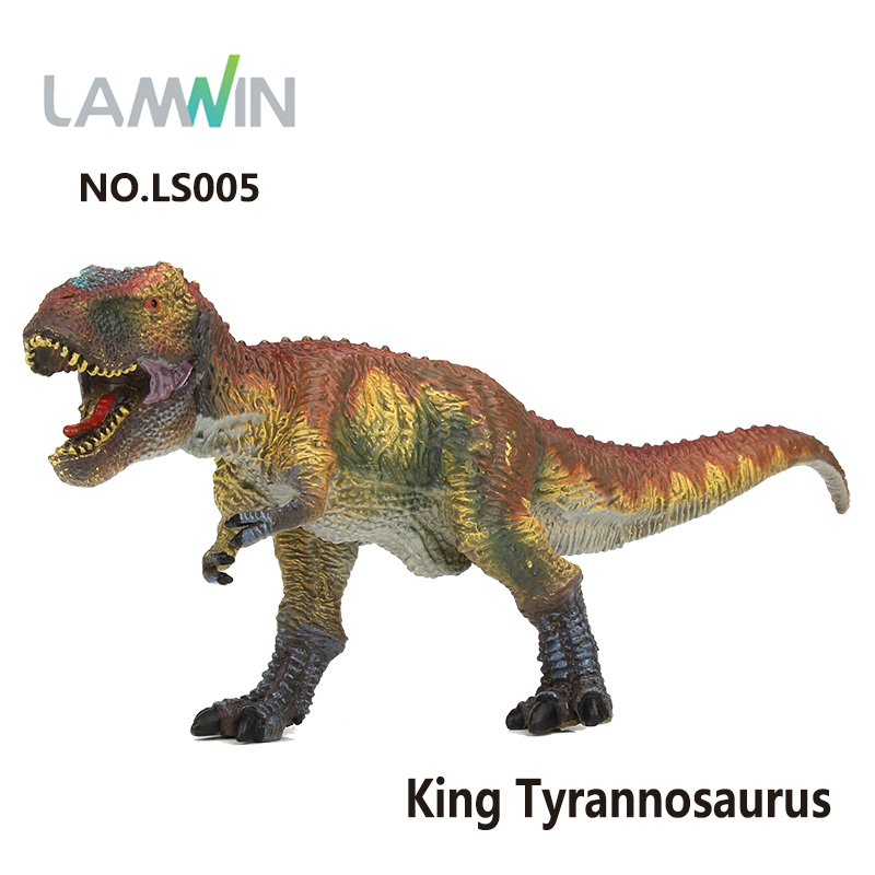 Lamwin Kids Toy Simulation Jurassic World Park Series King T-Rex Dinosaur Model Toy Tyrannosaurus Action Figure jurassic monster action tyrannosaurus rex can use electric to lay an egg with light simulation model children s toy