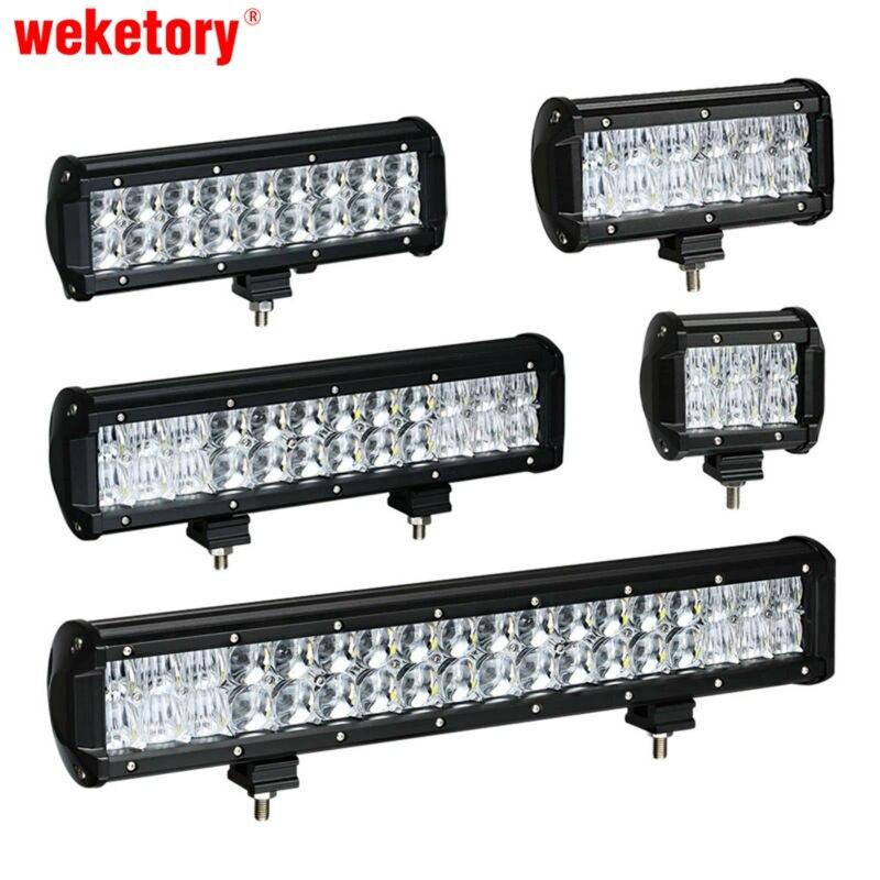 Weketory 4 6.5 9.3 12 17 pollice 30 W 60 W 90 W 120 W 180 W 5D LED Luce del lavoro Bar per Trattore Barca OffRoad 4WD 4x4 Camion SUV ATV 12 V 24 v