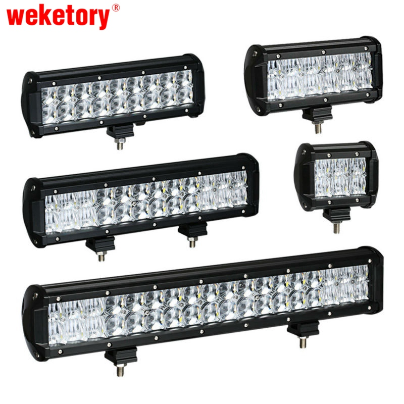 Weketory 4 6.5 9.3 12 17 pouce 30 W 60 W 90 W 120 W 180 W 5D LED travail Light Bar pour Tracteur Bateau OffRoad 4WD 4x4 Camion SUV ATV 12 V 24 v