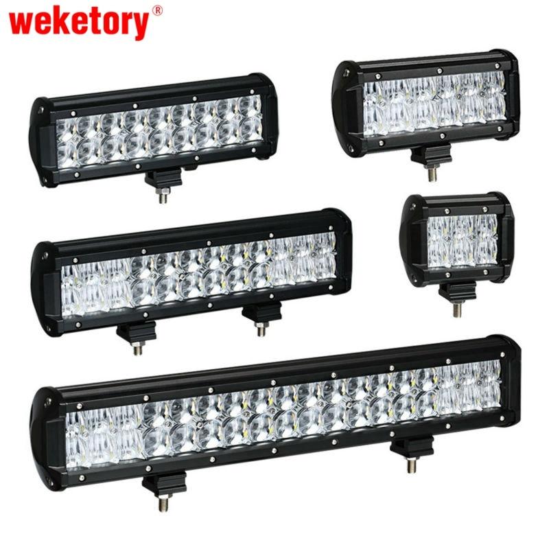 Wektory 4 6.5 9.3 12 17 pulgadas 30 W 60 W 90 W 120 W 180 W 5D trabajo barra de luz para el barco del tractor 4WD 4x4 camión SUV ATV 12 V 24 V