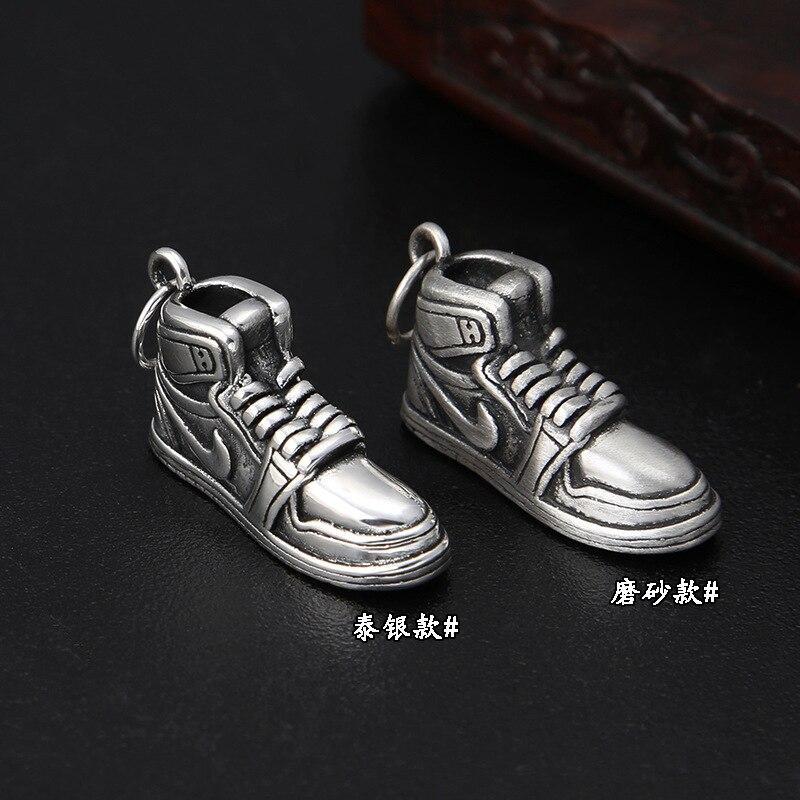Football 999 Jewelry Fashion Personality Retro Thai Silver Tide Sneakers Men And Women Small Pendant