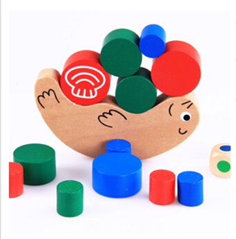 Fly AC Snail Piling Ring Educational Early Development Wooden Baby toy Interactive game Animal model