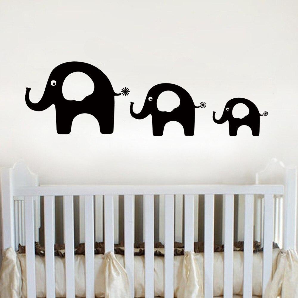 elefanten familie aufkleber kinderzimmer baby kindergarten kinder wandtattoo elefanten vater. Black Bedroom Furniture Sets. Home Design Ideas