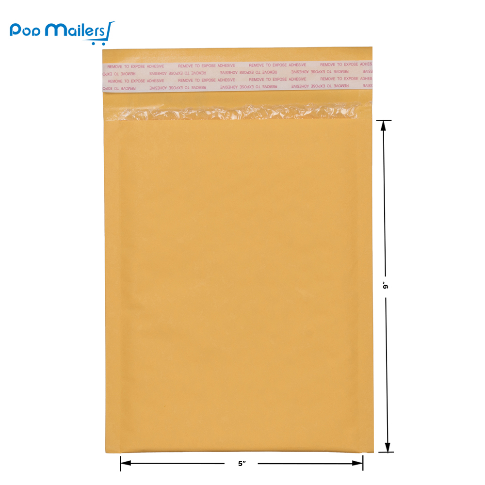 10pcs 15x23cm Kraft Bubble Mailers 00 Padded Mailers 5x9 Inch Bubble Envelopes in Paper Envelopes from Office School Supplies