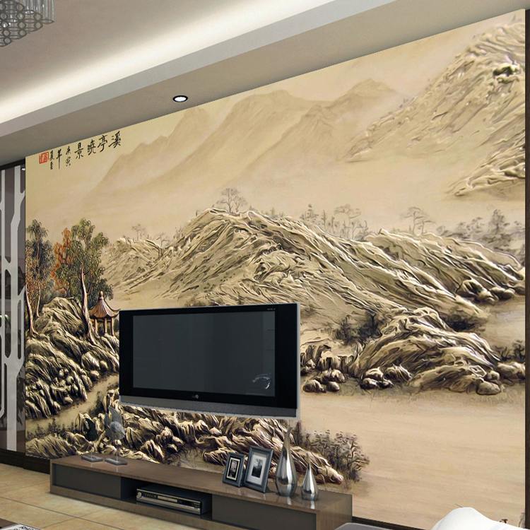 Custom 3d photo relief landscape murals living room TV background wall covering 3d wallpaper seamless Bedroom Sofa 3d wall paper
