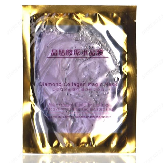 6pcs/lot Folded Purple Diamond Crystal Mask Grape Collagen Facial Mask Set  Multi-functional