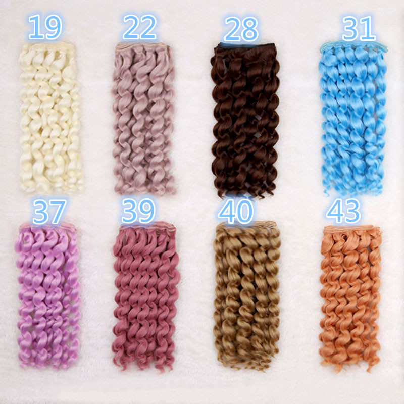15cm*100cm 10 curl hairpieces for BJD SD doll Wigs Blyth Salon doll hair High-temperature wire fiber Hair curly hair