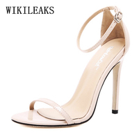 big size sexy high heels sandals women shoes woman fetish high heel pumps 11cm zapatos mujer sandalias mujer 2019 open toe heels
