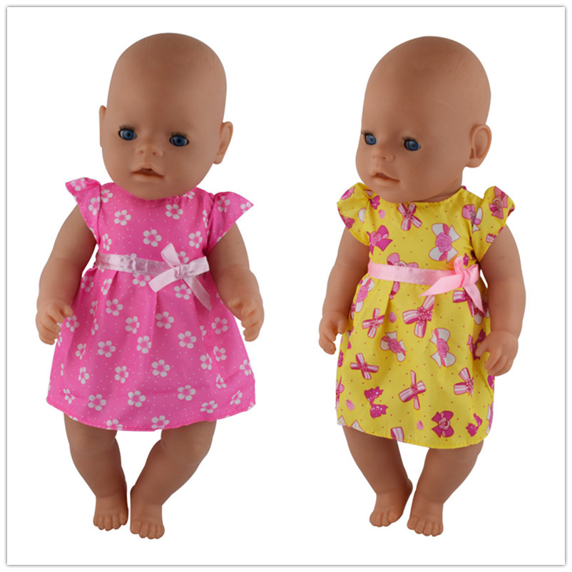 2color choose high quality dress Wear fit 43cm Baby Doll Clothes and Accessories, Children best Birthday Gift doll accessories b doll shoes wear fit 43cm baby doll clothes and accessories children best birthday gift