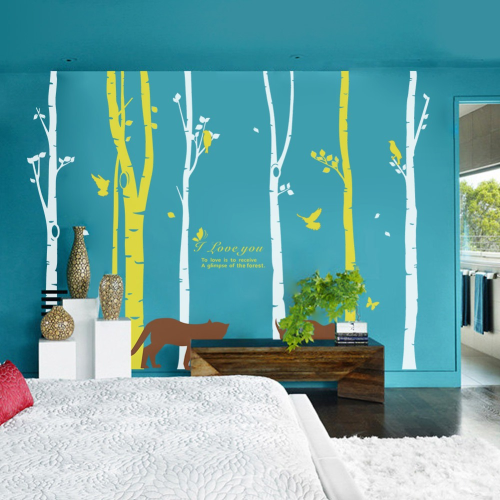 Aliexpress.com : Buy Forest Birds Wall Stickers Home Decor Tree Living Room  Decoration Wall Decor Decals Murals Sitting Room TV Bedroom Background From  ... Part 22