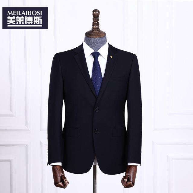2016 terno é fino terno de negócio dos homens de Alta-grade terno profissional dois-peça azul