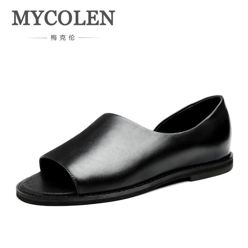 Mycolen Transpirables Marca Hombres Lujo Heren De Moda Sandalias Negras Casuales Sandalen Verano Zapatos 2018 vN08nwm
