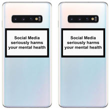 цена на Social Media seriously harms your mental health Soft TPU phone back cover for Samsung Galaxy A3 A5 A7 A8 A10 2019 J5 J7 Plus