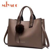 Miyaco Women Leather Handbags Casual Brown Tote Bags Crossbody Bag TOP Handle Bag With Tassel And