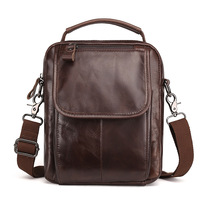 Men S Genuine Leather Crossbody Sling Bag Shoulder Messenger Handbag Business Bag For Male LS8894