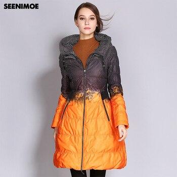 7b5cec24d Seenimoe 2019 invierno más tamaño mujeres abrigo Parkas mujer largo pato abajo  chaqueta acolchada Color de alta calidad para mujer ropa