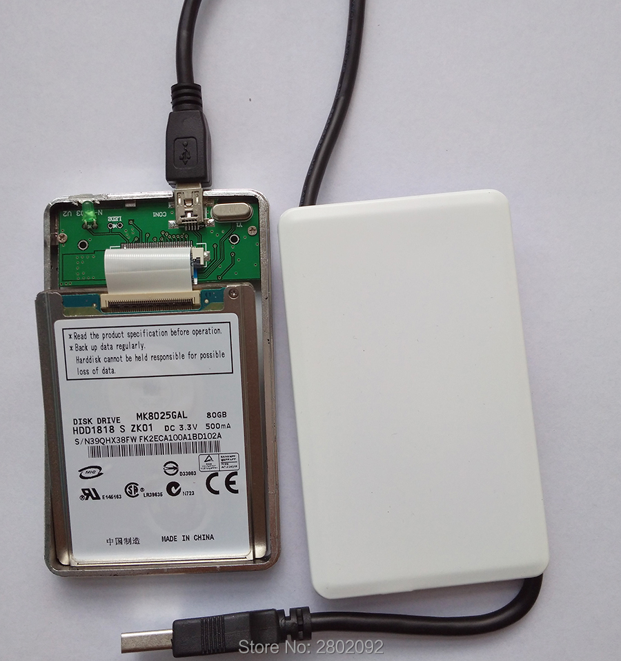 new MK8025GAL 1.8-inch micro hard drive interface ce ZIF 80GB AND A mobile hard disk box FOR IPOD VIDEO CLASSIC ZUNE SONY CAMERA ipod video 30gb 60gb 80gb lcd screen original