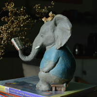 Everyday Collection Modern Home Decoration Living Room Decorative Lucky Elephant Animal fairy garden Ornament statue