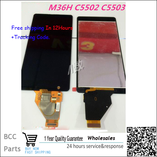 ФОТО 100% Original guarantee Black  For Sony Xperia ZR M36H C5502 C5503  LCD disply+Touch screen Panel Digitizer +best quality