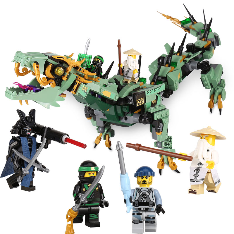 592pcs Movie Series Flying mecha dragon Building Blocks Bricks Toys Children Model Gifts Compatible With LegoINGly NinjagoINGly