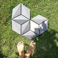 Concrete wall tile silicone mold Patio Pavers Silicone Molds Concrete Stepping Stone Mold