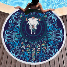 b8b6b26193af 150 cm Grande Rodada Toalha de Praia para Adultos Mandala Yoga Mat  Piquenique Cobertor de Microfibra Absorvente Super Macio Toal.