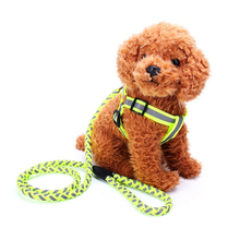 Reflective Dog Harness and Leash set Nylon Braided Pet Puppy