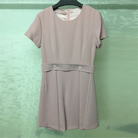 Pink Dresses For Women 2018 Summer O neck Short Sleeve Dress Women Vintage Mini Dress