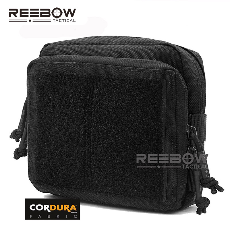 REEBOW TACTICAL Military Tactical Gear Utility Map Admin Pouch Outdoor EDC Tool Molle Bag Organizer Waist Pack airsoftpeak military molle waist bag tactical edc pouches outdoor belt utility pouch tool zipper waist pack hunting bags