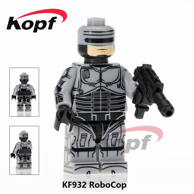 Single Sale KF932 Robocop Movie Alex J. Murphy Star Wars Super Heroes Building Blocks Gift Toys for children Super Heroes KOPF single sale super heroes red yellow deadpool duck the bride terminator indiana jones building blocks children gift toys kf928