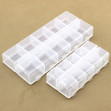 Fixed 10 plastic box containing lattice jewelry packaging fishing hook Accessories Tackle box