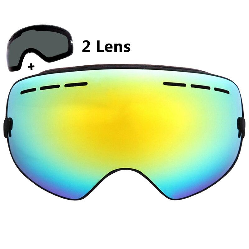 Prix pour Double Couches Ski Lunettes Spherica Ski Lunettes UV400 Anti-buée Ski Snowboard Lunettes Ski Masques 2 Lentille