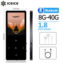Odtwarzacz MP3 z bluetooth i głośnikiem 1.8 ekran klawisze dotykowe hi fi radio fm mini sport MP 3 odtwarzacz muzyczny przenośny metalowy walkman