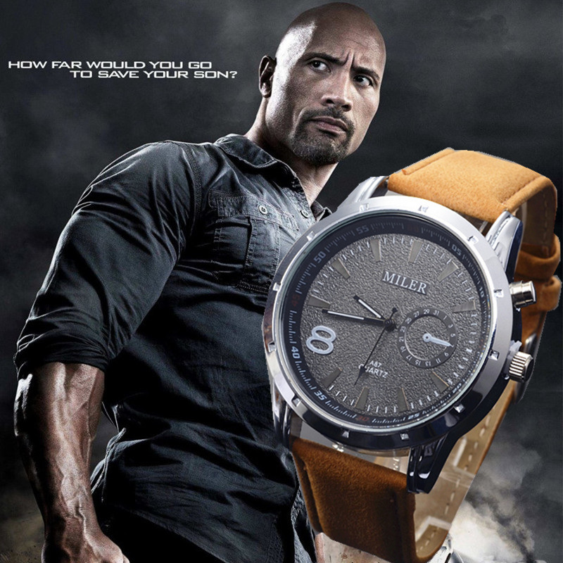 Men Sports Military Watch Genuine Brand MILER Fashion Quartz Leather Wristwatch Casual Round Dial Relogioes Boyfriend Gift! men leather strap watch sports military quartz fashion wristwatch casual analog relogioes round dial wholesale top quality clock