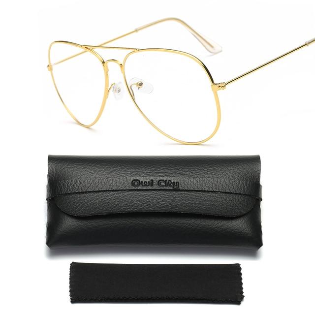 a4e22ace71 Women Optical Eyeglasses Frame Women Eyeglass large Metal Optical frame  Clear glasses Unisex Eyewear Accessories