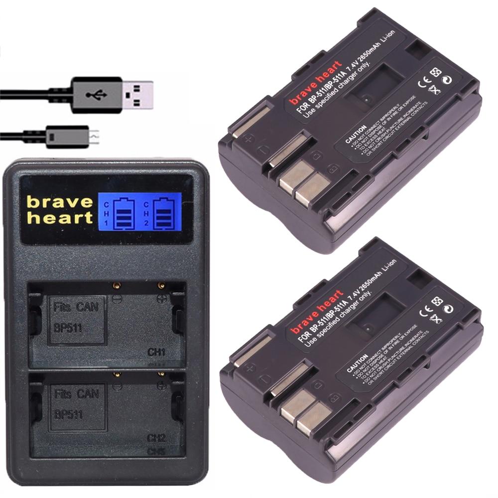 Bonadget 2200mAh BP-511a BP-511 Replacement Battery Compatible with Canon Rebel EOS 5D 40D 20D 50D 10D 30D 300D D30 D60 PowerShot G6 G5 G3 G2 G1
