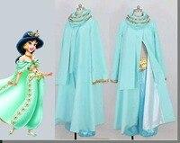 Косплей diy на заказ Алладин Принцесса Жасмин косплей костюм Взрослый женский сценический Хэллоуин Принцесса Жасмин Костюм L320