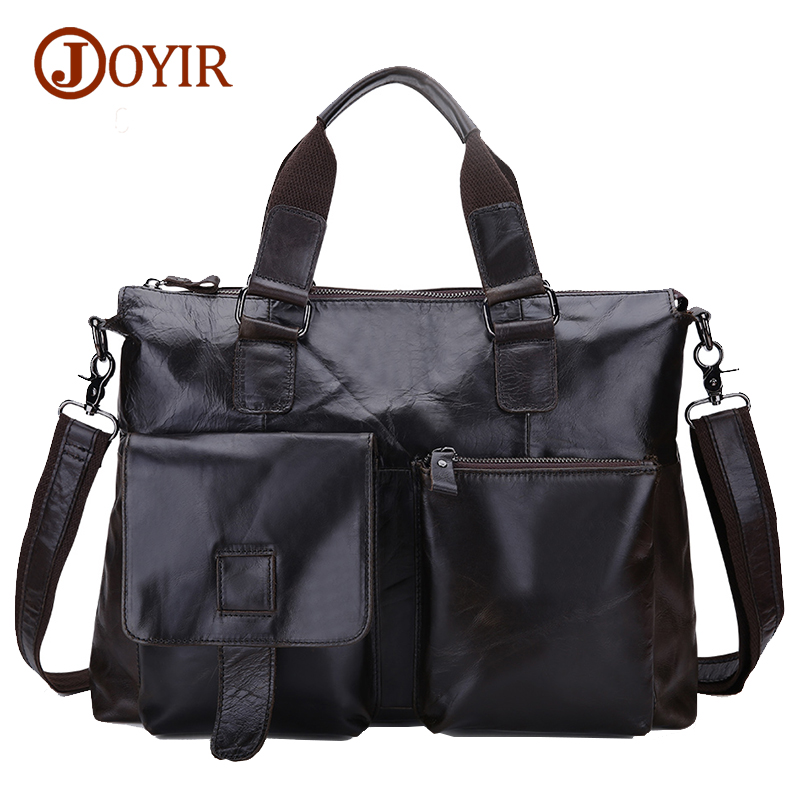 Joyir Brand Mens Office Bags For Men Genuine Leather Briefcase Style Handbags Shoulder Laptop Bags Business Man Briefcase B260A