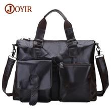 Joyir Brand Mens Office Bags For Men Genuine Leather Briefcase Style Handbags Shoulder Laptop Bags Business Man Briefcase B260A