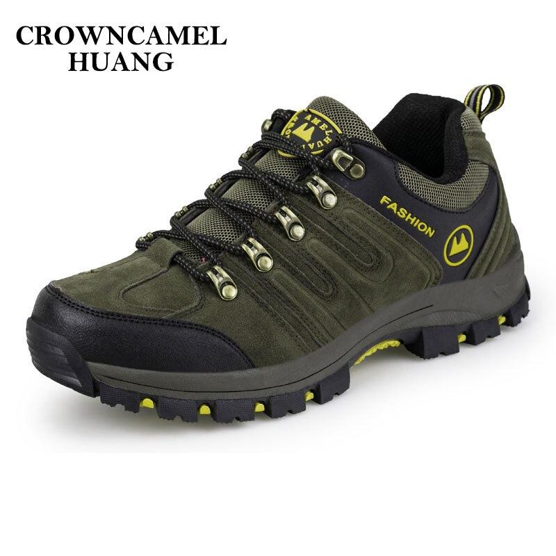 Man Waterproof Breathable Hiking Shoes Outdoor Boots Trekking Sport Sneakers Men Waterproof Tourism Shoes Climbing mountain цена
