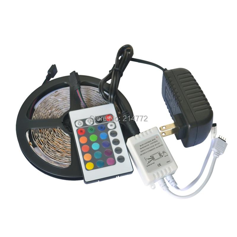 12V 2A Flex RGB LED Light Strip 5050 SMD 300 LED 60 led / m - ლედ განათება - ფოტო 3