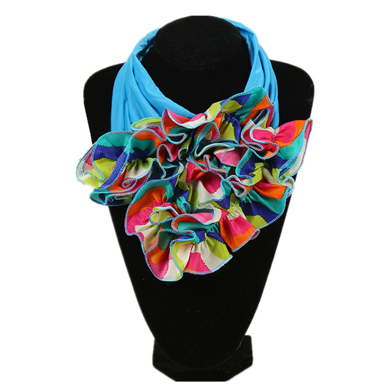 2020 New Neck Scarf For Ladies Luxury Brand Scarf Womens Fashion Neckerchief Ring Scarves Floral Collar Scarf For Women