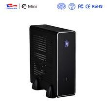 REALAN MINI ITX HTPC STAHL FALL E-C3 SGCC 0,8mm MINI-ITX M/B USB2.0 1 COM 1 WIFI 4 4010FAN SCHWARZ UND SILBER farbe