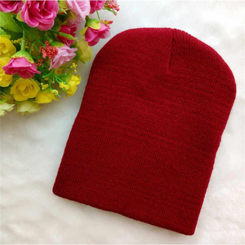 Baru Fashion Bayi Anak Laki-laki Gadis Unisex Topi Beanie Balita Bayi Anak Katun Blend Lembut Imut Padat Hat 8 Warna